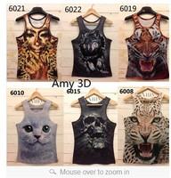 2013 Free shipping men /women t shirt mens o-neck Fashion vest 3d cotton t shirt ,3D printed t-shirts for man 21model