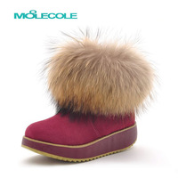 2013 fashion women's boots snow boots wool sheepskin short boots warm waterproof