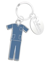Free Shiping Best Sell High Quality Scrub Suit keychains with Oval Charm