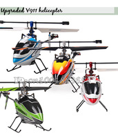 Free shipping V911 2.4G 4CH RC MINI Single Helicopter (Red Orange Blue Green) Outdoor V911 new version Plug for WL Toys