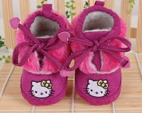 new 2013,winter warm shoes,hello kitty,newborn,baby boots,baby girl shoes,toddler's shoes,first walkers