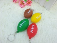with key chain soft pu stress soccker  ball  free shipping
