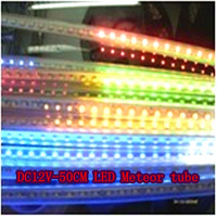 Color -DC12V-50CM LED Meteor tube (each LED meteor tube 10pc) IP65 waterproof - Free Delivery