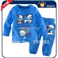 autumn Children's cartoon pajamas suit sets BOY's Pyjamas,100% cotton baby kids pajamas Children Sleepwear  6sets/lot freeship