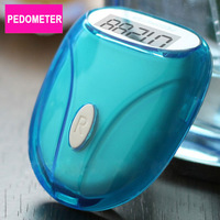New Run Step Pedometer  Colorful choice Mini Digital Walking Distance Counter Free Shipping