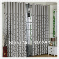 free shipping,high quality chenille curtain,1.4m*2.5m ready made polyester burnout Europe curtain,finished curtain,2 piece a lot