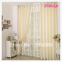 free shipping,1.9m*2.5m ready made beige jacquard curtain,finished polyester curtain for living room,customizable