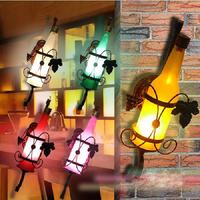 Contemporary Europe type rural retro beer bottles corridor wall lamp bar KTV light table decoration lamp -E27 Bulb