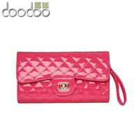 2013 plaid women's japanned leather handbag fashion evening bag women's chain shoulder bag