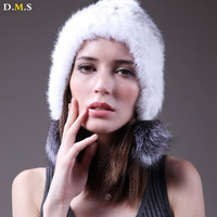 2013 women's winter fur hat mink hair ball quinquagenarian hat