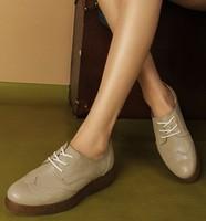 Fashion platform shoes women's Brogue Shoe with  wingtip oxford.gum-rubber outsole oxford four cols