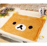 Free Shipping Single Short Plush Cute Brown Easily Bear Was Shape Single Short Plush Pillowcase