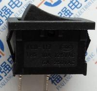 100pcs/lot Rocker switch 15 21mm black 2 power switch kcd1-101