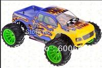Free shipping HSP 94108 1/10 Tyrannosaurus Nitro Monster Truck RC + FS GT2 radio set