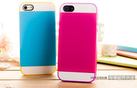 New CASE ip5 4S triple twin card mobile phone protective cover hard and soft shell jacket