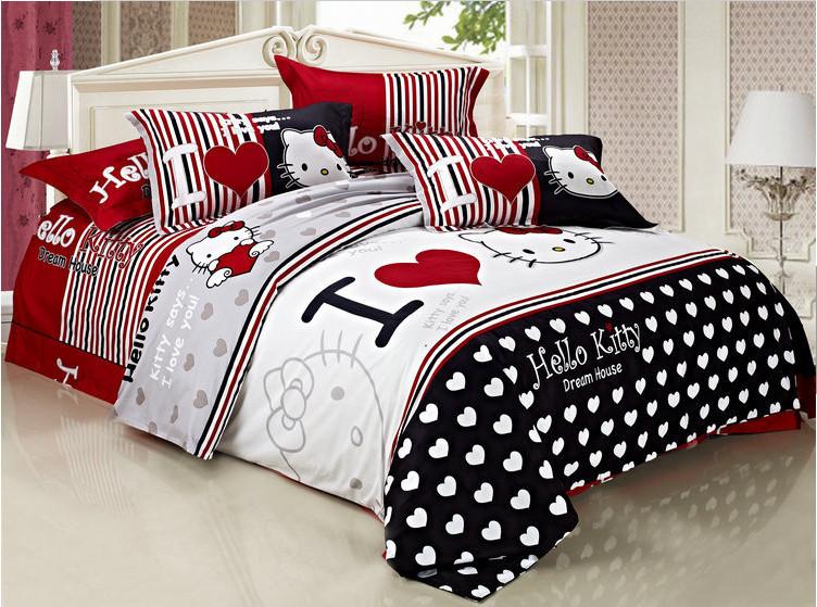Shop Popular Hello Kitty Comforter Set From China Aliexpress