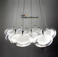 Modern home decoration glass spherical egg-shaped pendent light  living room lights restaurant lamp lobbing lamp  free shipping