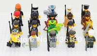 Minifigure Different Small Dolls 20pcs/lot Figures Building Blocks Sets Educational Jigsaw Construction Bricks Toys with weapons