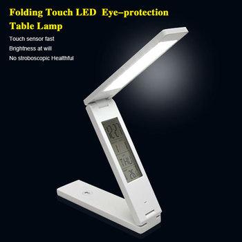 Free Shipping Folding Design white led desk lamp,high power eyes-protection led reading lamp.