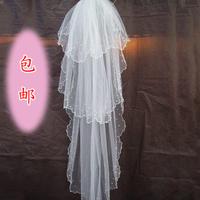 Veil the bride wedding dress formal dress multi-layer pearl veil wedding dress veil