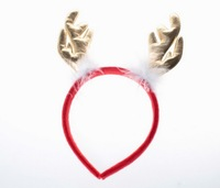 2013 New Christmas Present Lovely Hairy Antler Hair Band Gold SD12110107-1