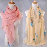 2013 autumn and winter female design long scarf velvet chiffon silk scarf women's cape