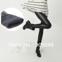 New Wholesale 5 Piece Fashionable Design Sexy Black Faux Leather Thicken Winter Warm Leggings For Women 168