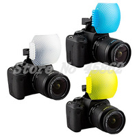 Free Shipping New 3pcs Pop up Flash Diffuser with one Bracket for Canon 650D 600D 550D Nikon D7000 D5100 D90