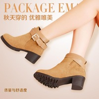 2013 Martin boots british style spring and autumn platform round toe boots nubuck leather ankle boots