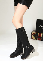 Beautiful medium-leg boots high quality PU wood anti-slip soles medium-leg boots
