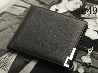 Male short design wallet commercial paragraph leather wallet new arrival