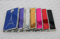 wholesale 200pcs/lot New High Quality Eiffel Tower Chrome Hard back Case Cover with mirror face For Samsung Galaxy Note3 N9000