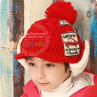 Autumn and winter cashmere yarn discontinuing cap twisted knitted hat child cap