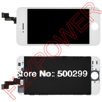 For iPhone 5s LCD Screen Display with Touch Screen Digitizer +frame Assembly by free shipping; White; 100% warranty