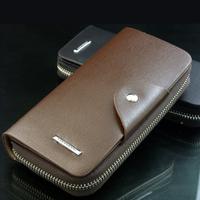 Darfur danny 2013 wallet male long zipper design soft leather purse multi card holder clutch