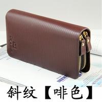 Zipper wallet long design male wallet cowhide large capacity purse clutch day clutch mobile phone bag