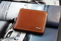 Wallet male genuine leather wallet men's cowhide short wallet clip design horizontal 2013