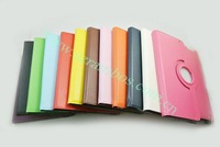 500pcs/lot 360 Rotation PU Leather Case for iPad 2 3 4