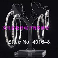 Crystal full Rhinestone Hoop Earrings Jewelry Wholesale !Paparazzi Basketball Wives CZ Hoop Earring for women  Free Shipping