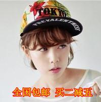 Tokyo letter male decorative pattern hiphop cap sunbonnet hip-hop baseball cap