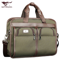 Septwolves male backpack business casual one shoulder cross-body handbag l1031-67