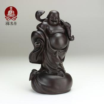 Wood carving buddha calamander wood decoration 40cm