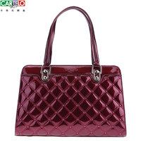Crocodile women's handbag women's shoulder bag patent leather women's handbag portable red women's japanned leather handbag