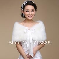 Wholesale Black Warm Faux Fur Bolero Bridal Wedding Wrap Shawl Jacket Coat Free Shipping