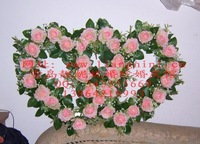 Wedding props yarn decoration artificial silk flower dcrv silk flower pink