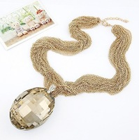 N00174 New Arrival Free Shipping (Min order $10) fashion Unique 18K Gold hot sell choker Necklace statement jewelry women