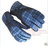 Men's waterproof windproof winter ski riding thick warm gloves, slip resistant gloves