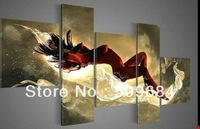 Hand-painted  Free shipping New HUGE CANVAS WALL ORNAMENTS MODERN ABSTRACT OIL PAINTING 5pcs/set  No Framed   SI 998