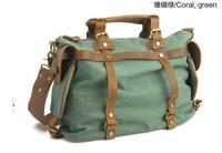 2013 Hot- Selling  Classic Cool Casual Handbag Punk Bag  Canvas + Crazy Horse Leather Shoulder Bag Cross-Body Bag Free Shiping
