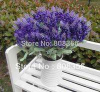 "10Pcs (10 heads/Bunch) 36cm/14.17"" Artificial Silk Lavender Fake Flower for Wedding Bride Bouquet Party Home Decorative Flowers"